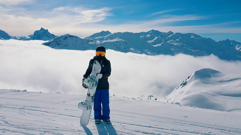 destination ou faire du snowboard